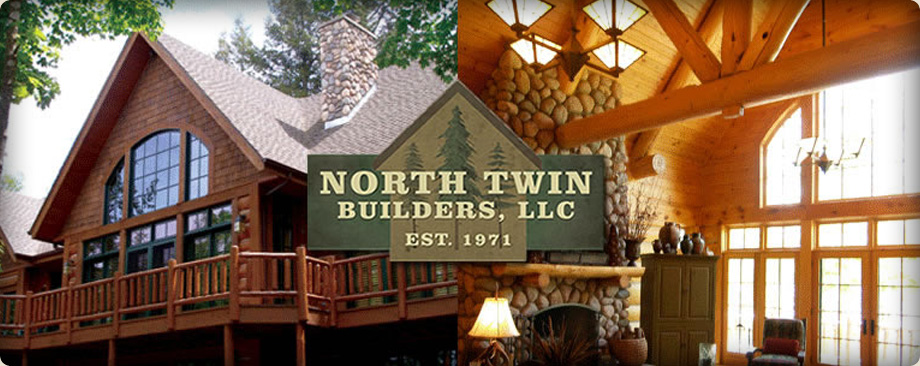 Northwoods custom home exteriors north twin builders Northern wisconsin home builders