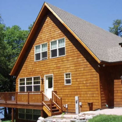 Cedar Sided Home Construction in Phelps WI